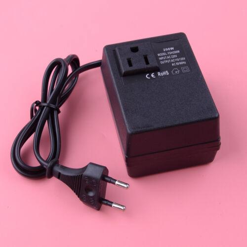 200W Voltage Converter Transformer AC 220V To 110V Power EU Plug Adapter Black