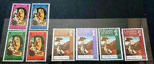 2 X Ensemble Complet De Cayman Islands Stamps-noËl 69/easter 70-inutilisées Lh-afficher Le Titre D'origine