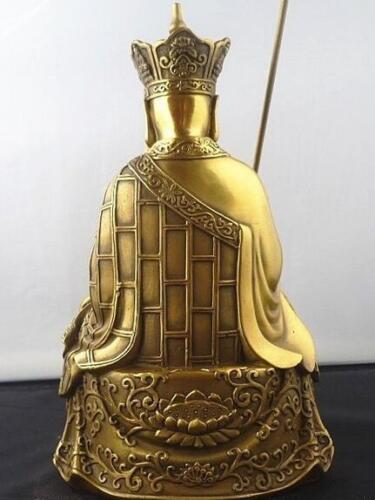 """Chinese bronze Ksitigarbha Bodhisattva statue 8/""""High"""
