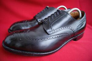 separation shoes a93a9 dadde Details zu Alden US 11 E (45) Black Wing Tip Blucher Oxford Business Schuhe  + Schuhspanner