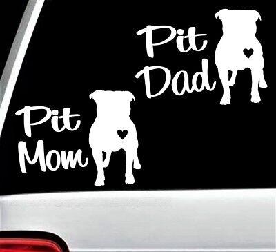 Pit Mom Pit Bull Decal Sticker for Car Window 6 Inch BG 101