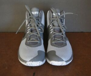 NIKE Precision Men's Basketball Shoes Gray Mesh ( US SIZE