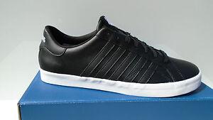 K-swiss-Chaussures-Hommes-Noir-Belmont-cuir-sneaker-chaussures-de-sport-39-49-NEUF