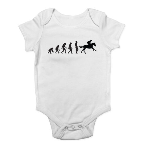 Evolution of Horse Riding Boys Girls Baby Grow Vest Bodysuit