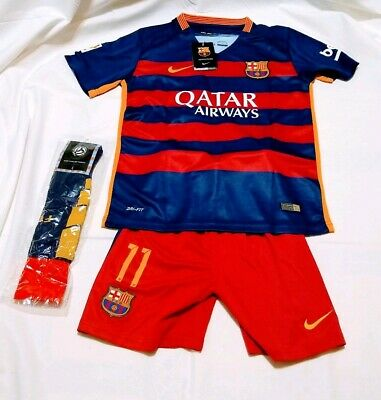 Fcb Barcelona Qatar Airways Jersey Short Sock Nike Neymar Jr Unicef Sz 28 Ebay