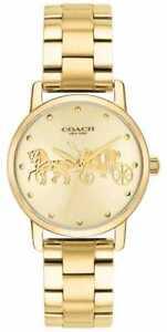 b228802d1512 Coach Reloj De Pulsera Y Caja Dorada Para Mujer 14502976 Relojes -27 ...