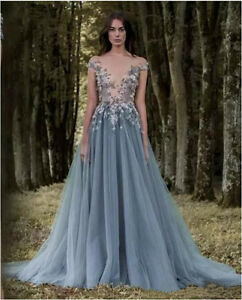 Image Is Loading New Customized Women Paolo Sebastian Sheer Lace Prom