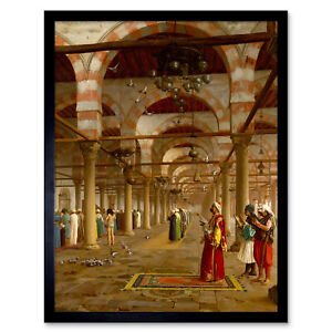 Gerome-Prayer-Mosque-Islamic-Painting-Framed-Wall-Art-Poster