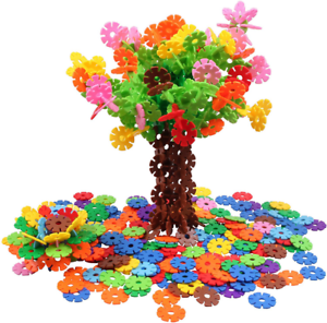 VIAHART Brain Flakes 500 Piece Interlocking Plastic Disc Set | A Creative and