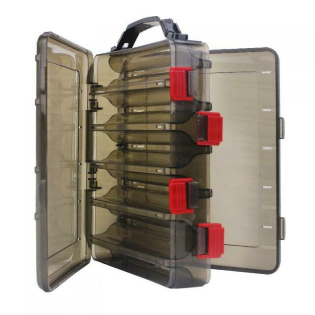 10 Compartments Double-Sided Fishing Lure Hook Tackle Box Bait Squid Jig Case
