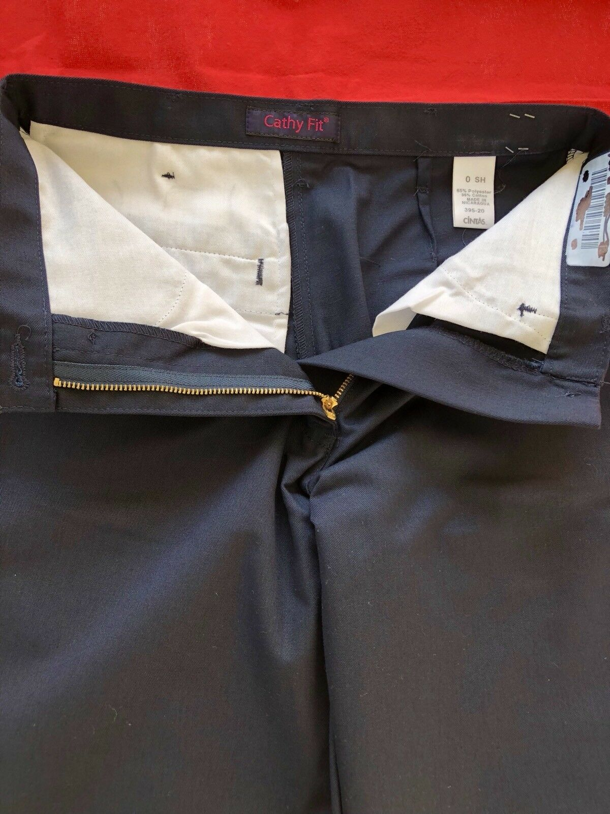 3 Womens Navy bluee Cintas Cathy Fit Work Pants Size 0 SHORT