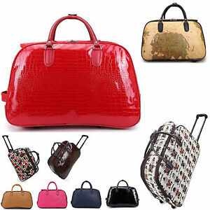 6b1d220c2c7 LeahWard® Women s Small Size Holdall Luggage Travel Bag With Wheel ...