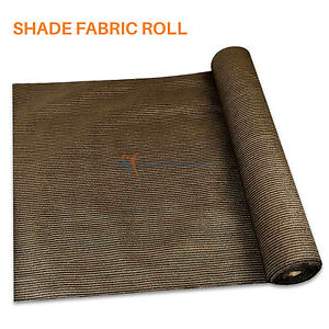 Brown Customize 12FT Fabric Roll Shade Cloth Fence Windscreen Privacy UV MeshDIY