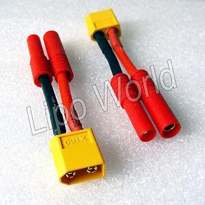 XT60-Stecker-auf-4mm-HXT-Buchse-12AWG-Adapter-Lade-Kabel-LiPo-Akku