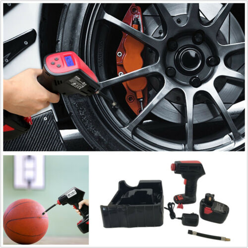 Emergency Rechargeable Cordless Handheld Electric Tire Inflator  Pump US Plug
