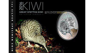 $1 Dollar Little Spotted Kiwi New Zealand 1 oz fine silver 2018 Proof