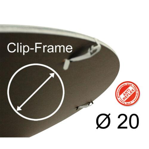 Marco Clip redondo Vidrio transparente de acrilico