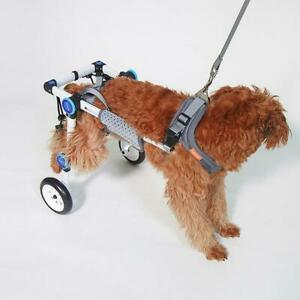 2Wheel-Pet-Wheelchair-Walk-Assistant-Cart-Kit-Upgrade-For-Handicapped-Cat-Dog-y9