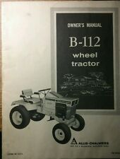 Allis Chalmers B-112 Lawn Riding Garden Tractor Owners Manual 30pg Simplicity 12