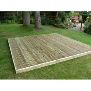 Deck decking complete kit garden 1 8m x 2 4m landscaping for 4 8 meter decking boards