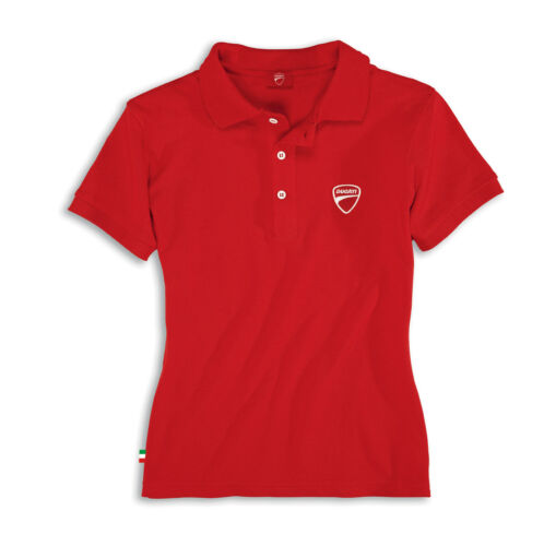 Ducati Ducatiana II Ladies short Sleeve Polo T-Shirt Top Red Lady New