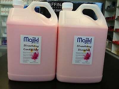 Bulk 5 litre Strawberry Shampoo x 1 and  bulk 5 litre Strawberry Conditioner x 1