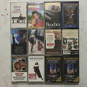 Lot-of-12-Vintage-Motion-Picture-Soundtracks-Cassette-Tapes-Classic-Movies-Music