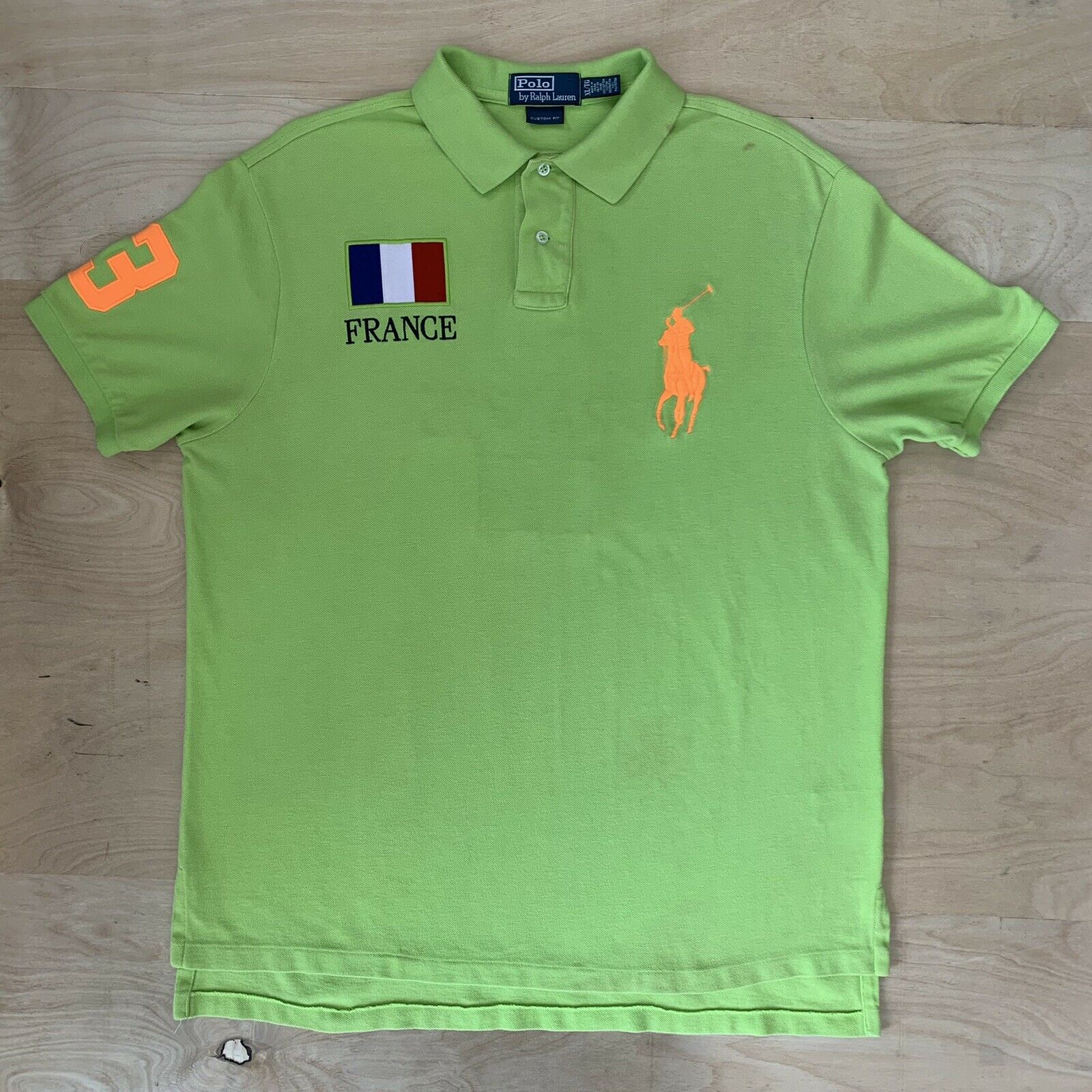 Vintage Polo Ralph Lauren France Rugby Shirt XL G… - image 2