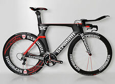 CARBON TRI TRIATHLON TIME TRIAL BIKE BICYCLE SHIMANO 6800 11 SPEED TT AERO LARGE