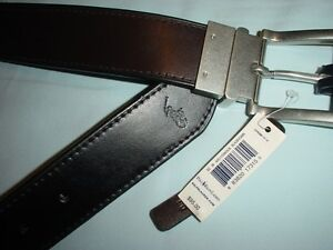 ee321ff7df6c Polo Ralph Lauren MENS Reversible LEATHER BELT Black Brown 32 34 36 ...