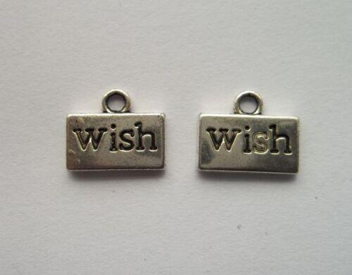wholesale 20pcs alloy  Tibetan silver wish charms pendant  10x16mm