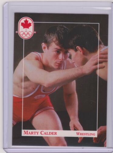 RARE 1992 CANADA SUMMER OLYMPIC MARTY CALDER WRESTLING ROOKIE CARD #180