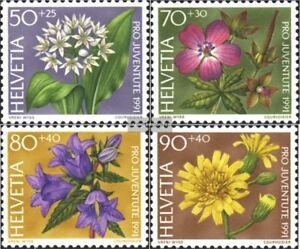Schweiz-1455-1458-kompl-Ausg-gestempelt-1991-Pro-Juventute