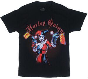 DC-HARLEY-QUINN-POW-Black-Adult-Licensed-T-Shirt-Batman-Joker-S-XXL