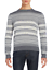 Saks Fifth Avenue Men/'s Pearl Gray Striped 100/% Cashmere Sweater $195