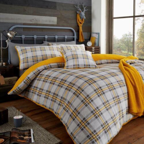 Teddy Bear Fleece Tartan Highland Cow Check Tumble Dry Cosy Warm Bonton Flannel