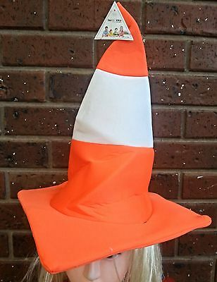 Traffic Cone Hat Safety  Fancy Funny Dress Costume