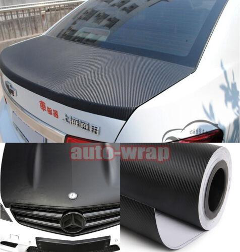 Select Classic Car 3D Carbon Fiber Vinyl Wrap Sticker Film Black Air Free AC