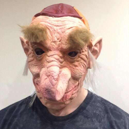 Hoggle Mask Halloween 80/'s Labyrinth Latex Costume Fancy Dress Goblin Troll