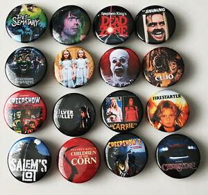 16-Stephen-King-Filme-1-25-034-Button-Pin-Set-Horror-Shining-Tierfriedhof-es