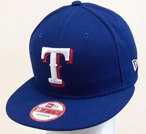 premium selection 37423 d6c49 Image is loading NEW-ERA-MLB-9FIFTY-SNAPBACK-TEXAS-RANGERS-Blue-