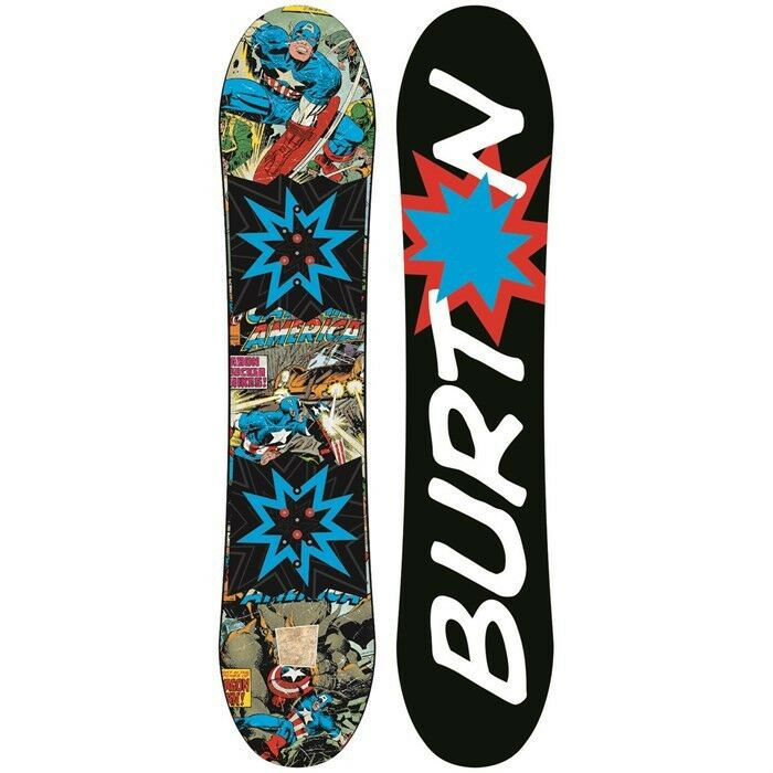 New  Burton Marvel Avengers Captain America Snowboard 130cm. Ltd Edition, Rare  world famous sale online