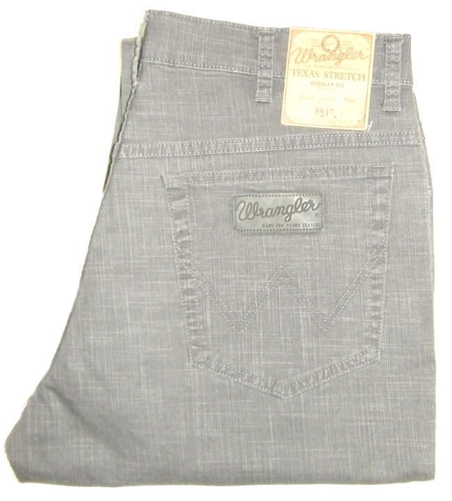 Wrangler Texas Stretch Size W 33 L 32 ODER W 33 L 34 Anthracite Grey W12197191