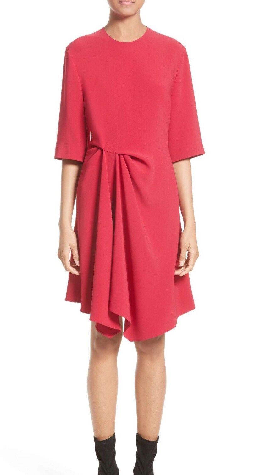 NWT Stella McCartney Draped Stretch Cady Dress, 4, 38 IT