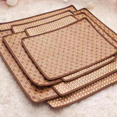 Comfortable Pet Dog Cat Summer Cooling Mat Nesting Bed Straw Bamboo Sleeping Pad