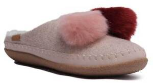 deb826561dc Toms Pom Pom Ivy Womens Felt Rose Cloud Winter Flat Slippers UK Size ...