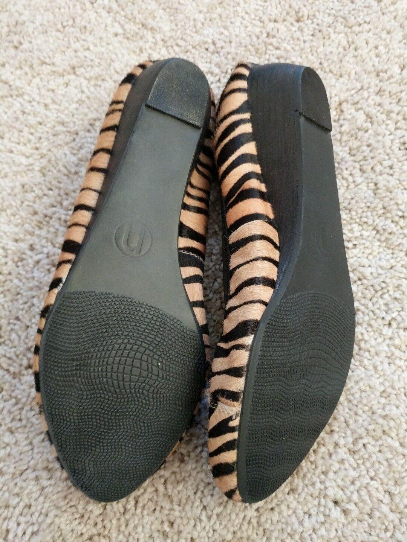 NICOLE Better Pony Pony Pony Hair Zebra Stripe Wedges shoes Sz 10 NEW  99 22389b