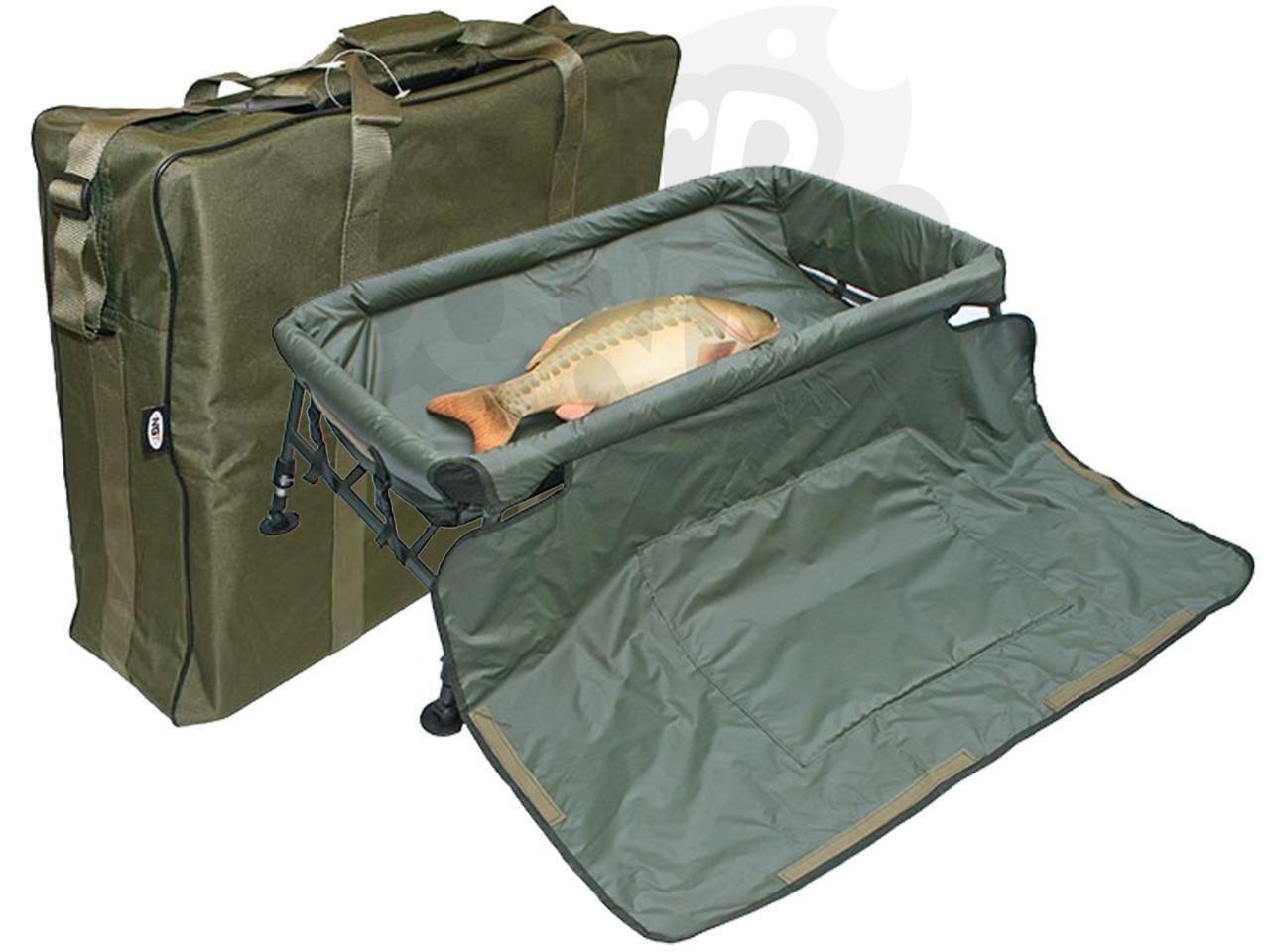 Fishing Carp Cradle Cradle Carp Framed Unhooking Mat With Adjustable Legs Plus Carryall 62235d