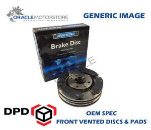 OEM-SPEC-FRONT-DISCS-PADS-256mm-FOR-VOLKSWAGEN-SCIROCCO-1-8-16V-1989-92