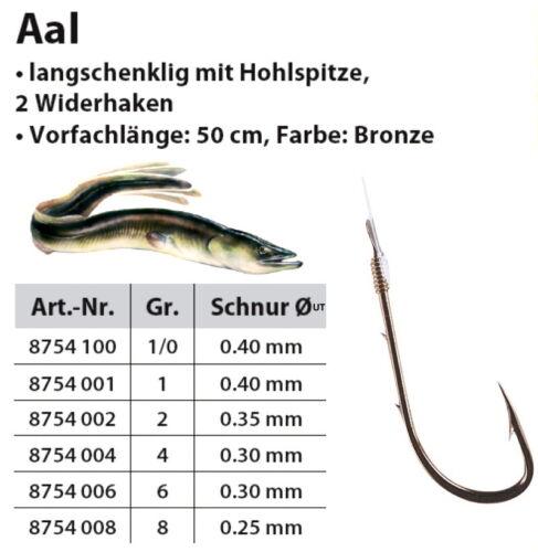Aalhaken Wurmhaken Bronze Sänger Specitec Vorfachhaken Aal